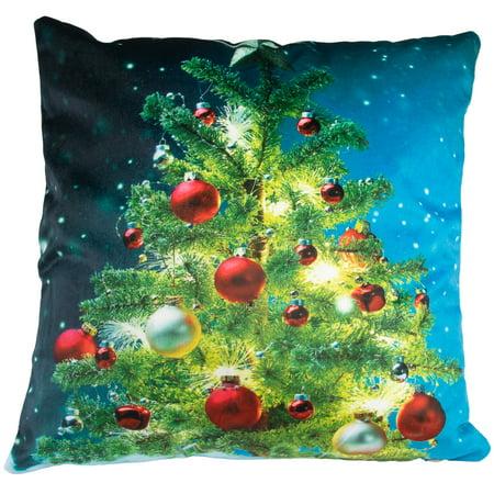 Christmas Pillows.Christmas Pillows Decorative Pillows Throw Pillows Light Up Pillow With Battery Operated Led Christmas Lights For Christmas Decorations Home
