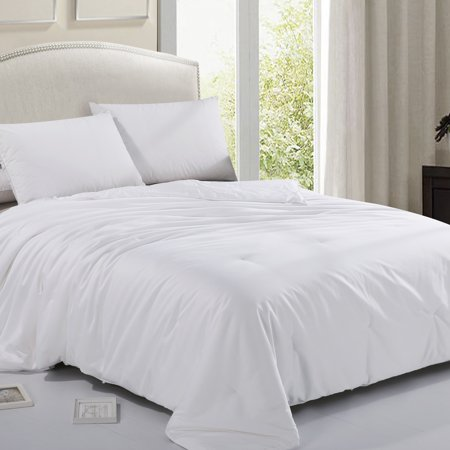 Cheer Collection Mulberry Natural Long Strand Silk Filled 300 TC Cotton Sateen Comforter