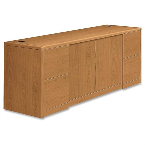 "Hon 10742 Credenza With Doors - 72"" Width X 24"" Depth X 29.5"" Height - Wood - Harvest, Laminate (10742CC)"