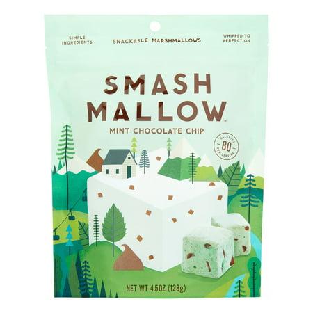 Smashmallow Snackable Marshmallow, Mint Chocolate Chip, 4.5 Oz