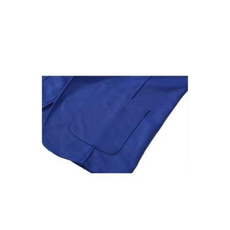 Mens Simple Two Pockets Front Two Buttons Long Sleeve Blazer Royal Blue S - image 2 of 7