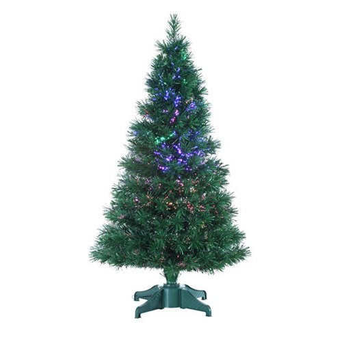 Green Fiber Optic Tree with LED Bulb and Transformer