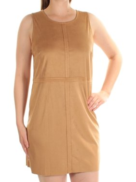 KENSIE Womens Brown Sleeveless Jewel Neck Mini Shift Dress  Size: M