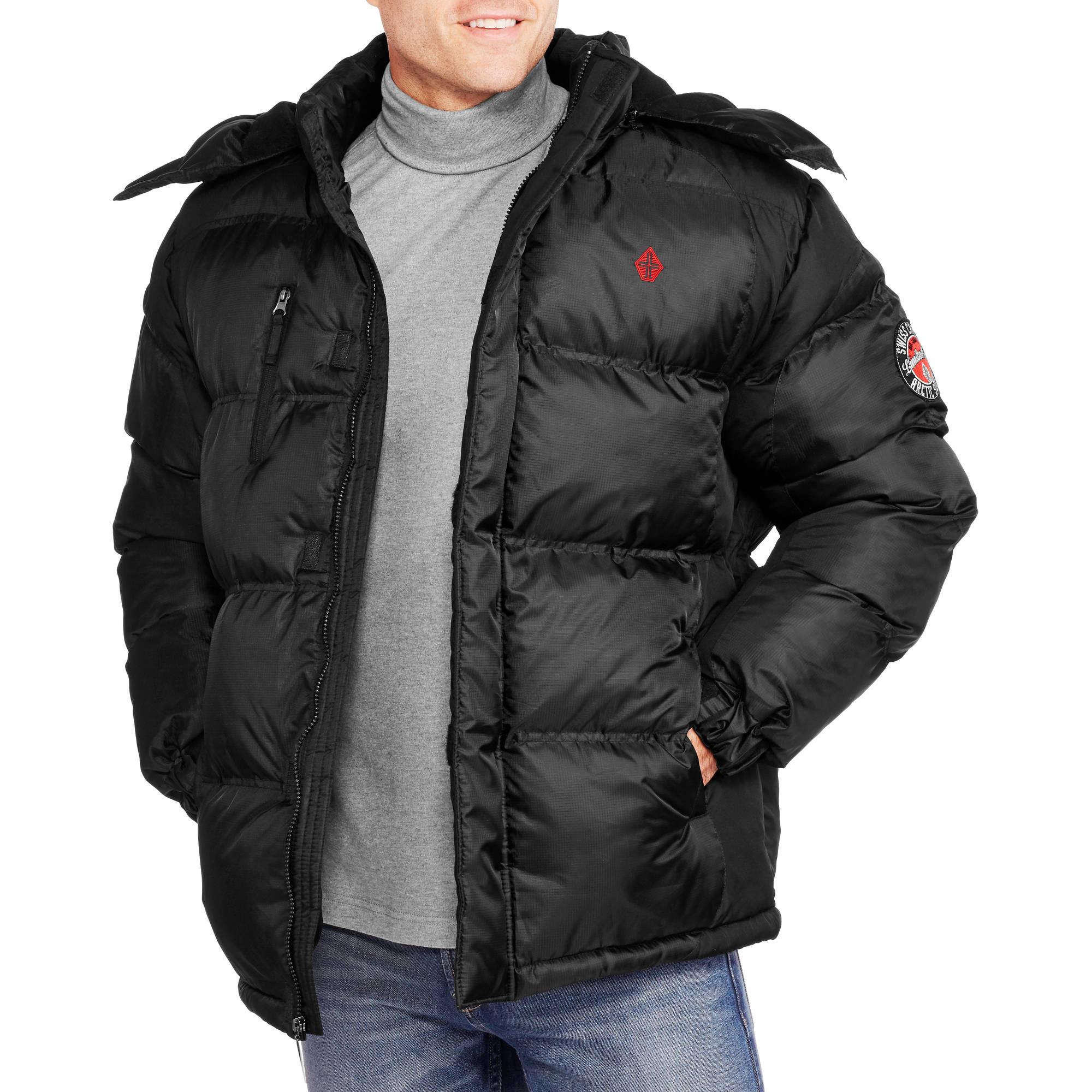 Men's Fleece Lined Rip Stop Bubble Jacket