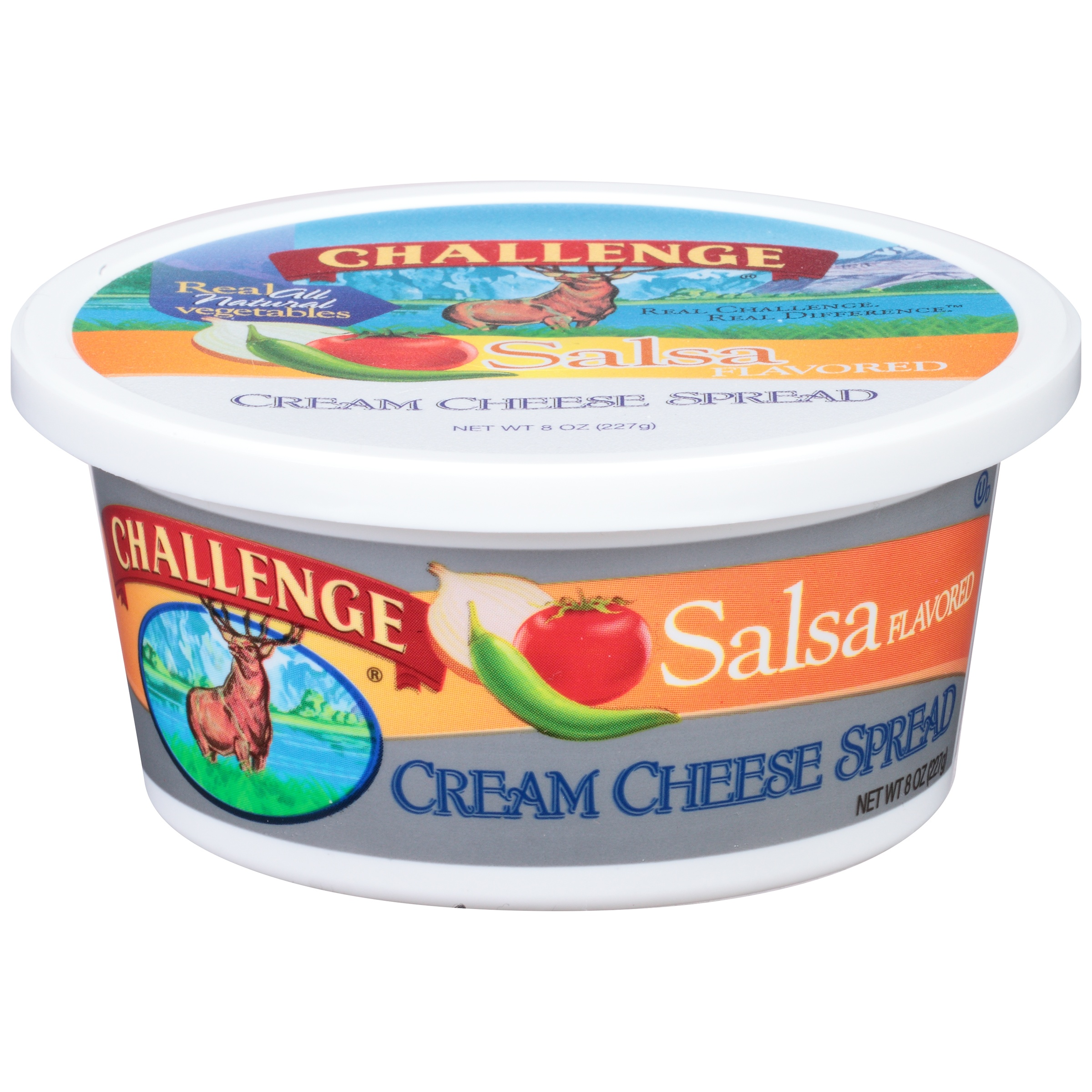 Challenge® Salsa Flavored Cream Cheese Spread 8 oz. Tub