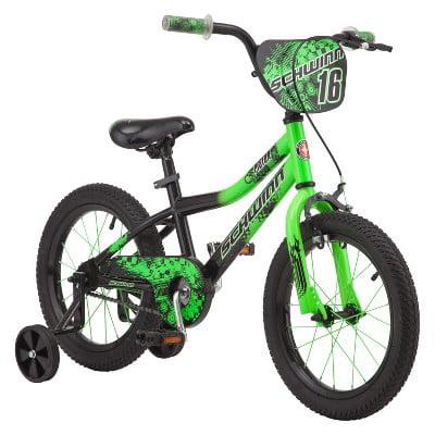 "Schwinn Piston 16"" Kids Bike - Green"