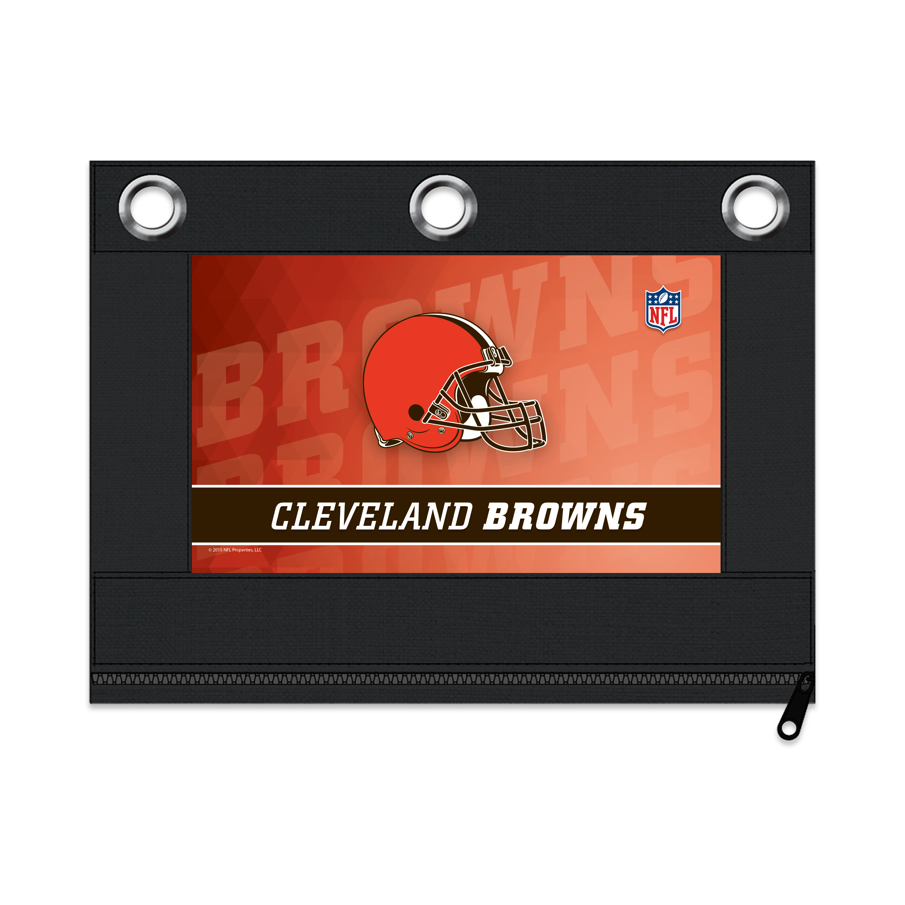 NFL Cleveland Browns Zippered Pencil Pouch with Grommets