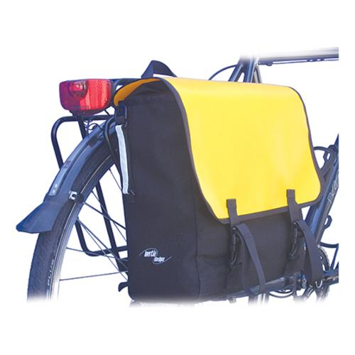 Inertia Monsoon Satchel Bicycle Pannier Bag - Single Side (Black/Yellow - One Size)