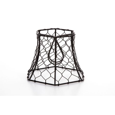 575 cleveland vintage lighting black chicken wire clip on lamp 575 cleveland vintage lighting black chicken wire clip on lamp shade mozeypictures Image collections