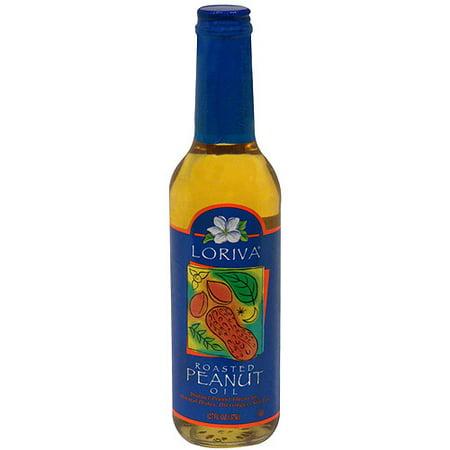 Loriva Roasted Expeller Pressed Peanut Oil, 12.7 oz (Pack of 6)