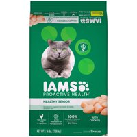 [Multiple Sizes] Iams Proactive Health Healthy Senior with Chicken Dry Cat Food