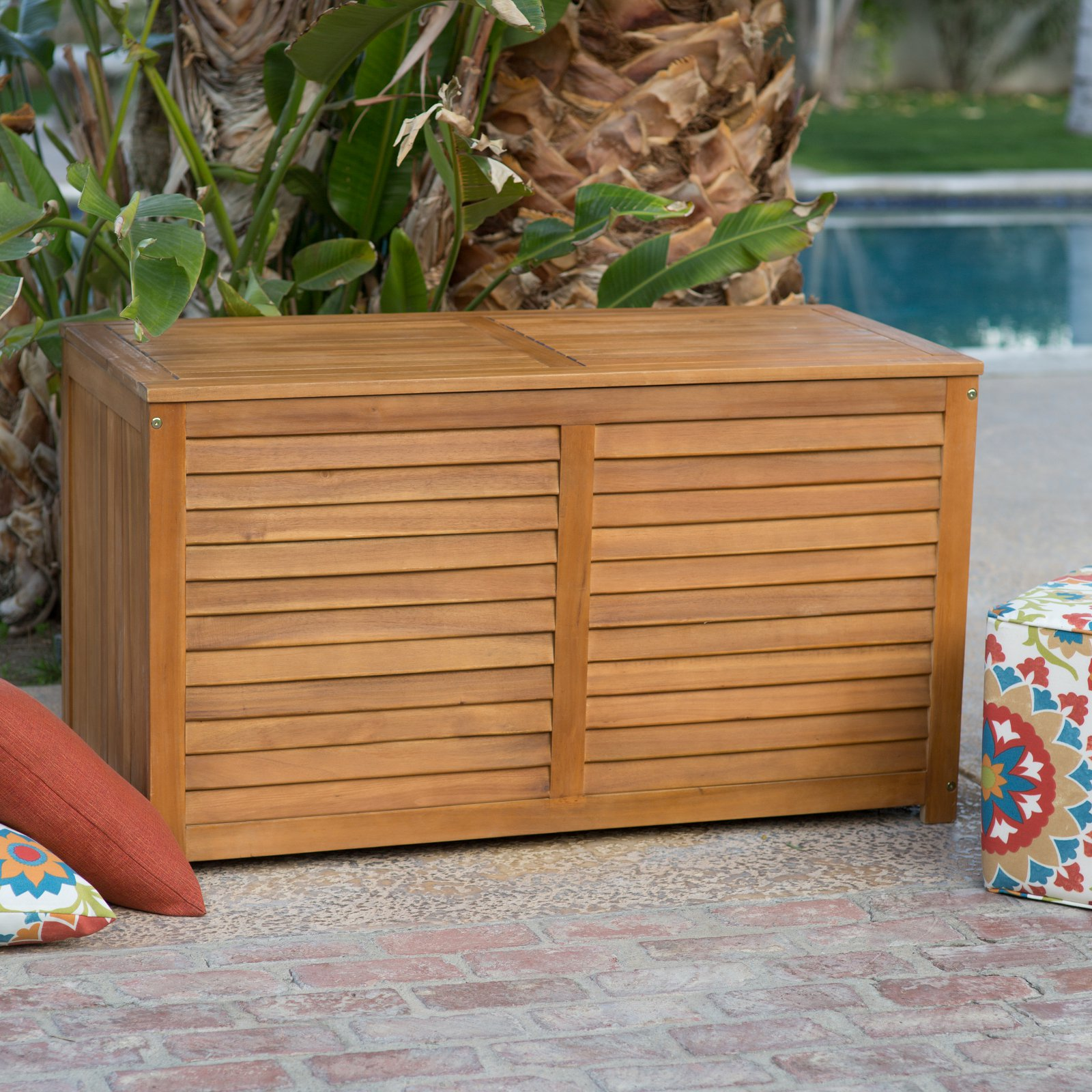 Incroyable Coral Coast Atwood 90 Gallon Outdoor Wood Storage Deck Box