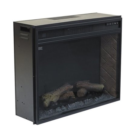Ashley Large Electric Fireplace Insert Infrared In Black Walmart