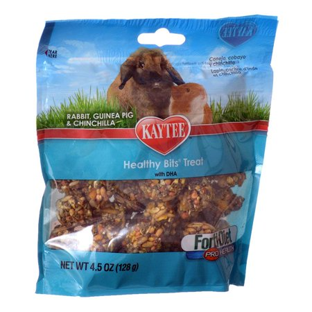 Kaytee Forti Diet Guinea Pig - Kaytee Forti-Diet Pro Health Healthy Bits Treat - Rabbits, Guinea Pigs & Chinchilla 4.5 oz - Pack of 2
