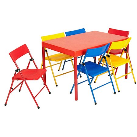 Safety 1st - Children\'s 7-Piece Folding Table and Chairs Set ...