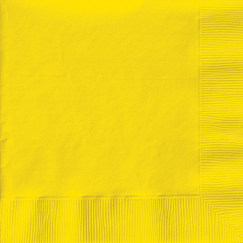Creative Expressions Luncheon Napkins 50-Pack, School Bus Yellow