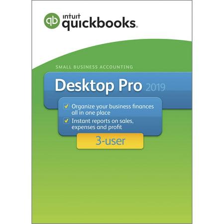 Intuit QuickBooks Desktop Pro 2019 3 User (Email