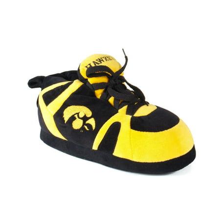 Image of Comfy Feet NCAA Sneaker Boot Slippers - Iowa Hawkeyes