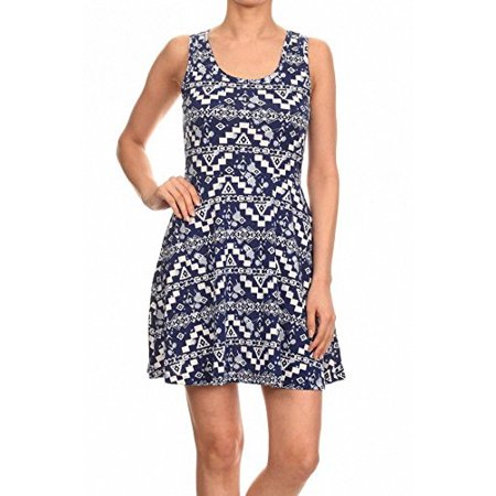 Sassy Apparel Women's Spring Theme Printed Skirt Dress (Large, Blue-01)](1920s Themed Dress)