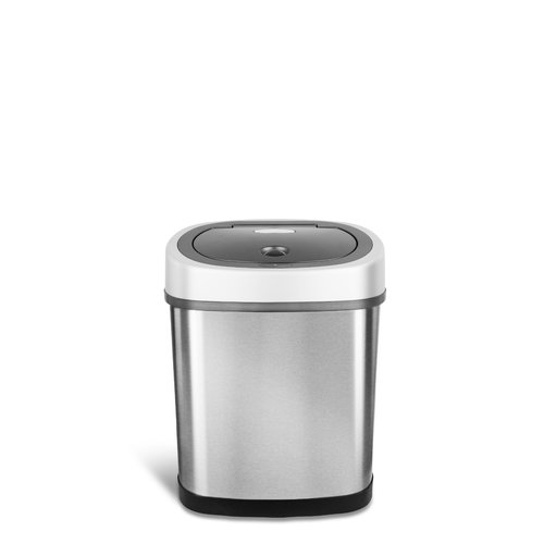 Nine Stars Stainless Steel 3.1 Gallon Motion Sensor Trash Can