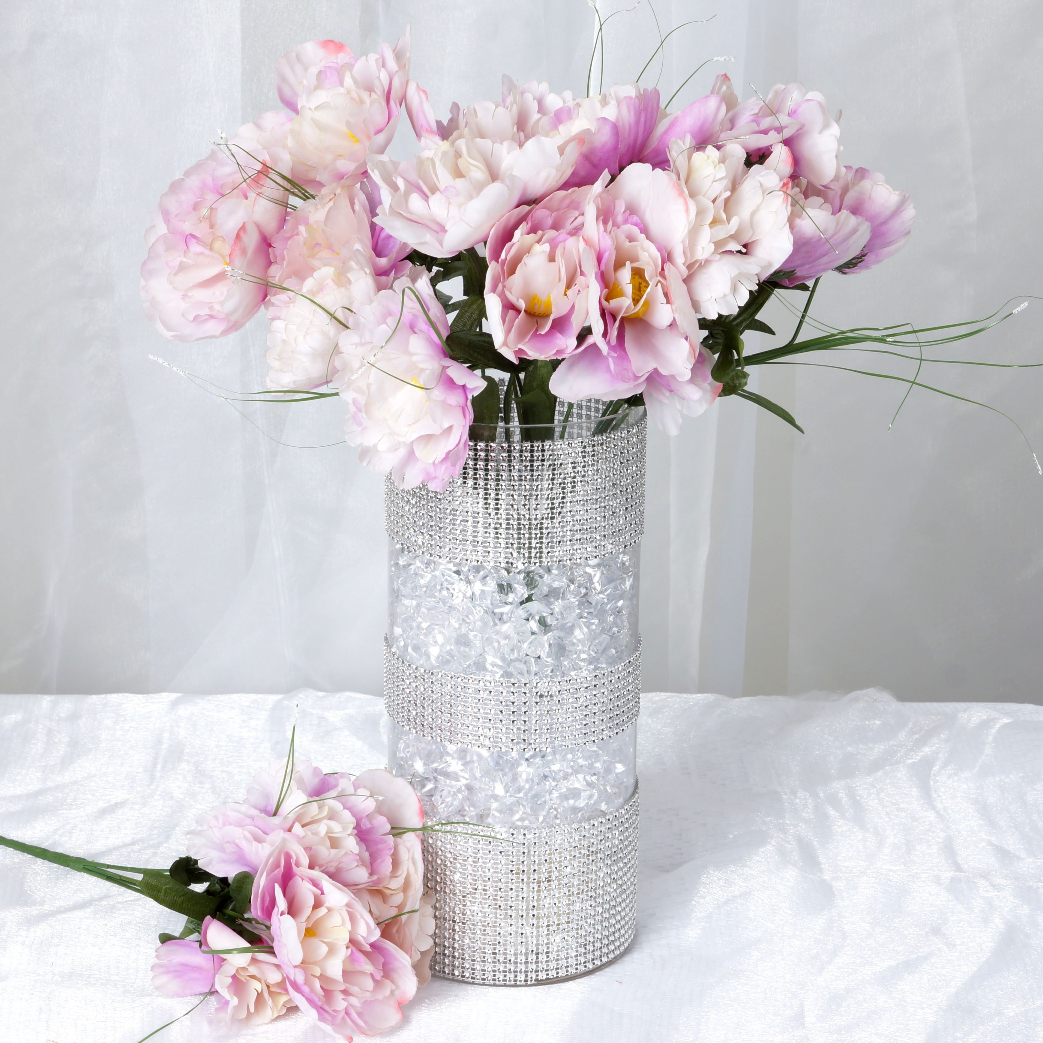 BalsaCircle 60 Silk Peony Flowers - DIY Peonies Home Wedding Party Artificial Bouquets Arrangements Centerpieces