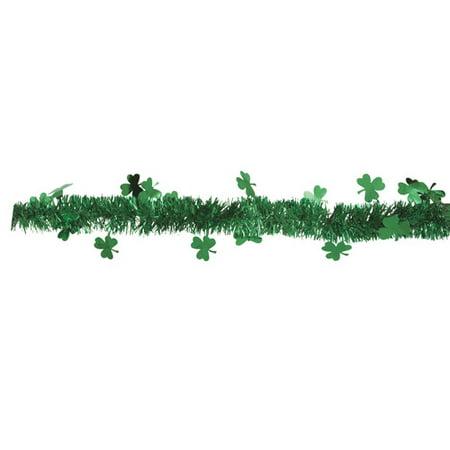 9 Tinsel St  Patricks Day Shamrock Garland