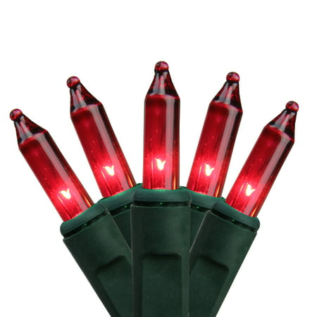Northlight 50ct Mini String Lights Red - 10.2' Green Wire