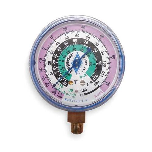 IMPERIAL 425-CB Replacement Gauge,Low Side,Color Blue