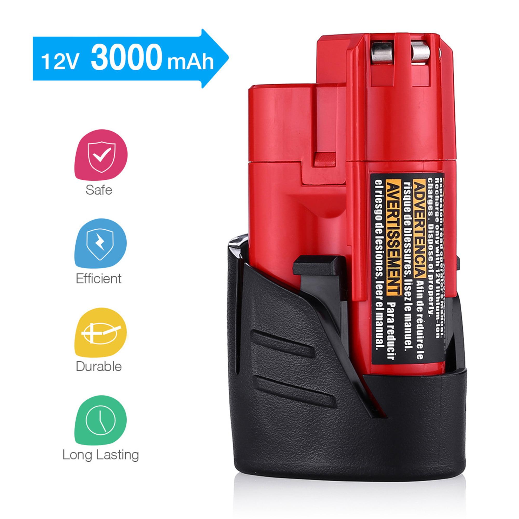 2X Power Tool Battery For Milwaukee M12 12V 2000mAh 48-11-2401 12 Volt