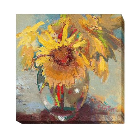 Water Globe Blossoms by Beth A. Forst Premium Gallery-Wrapped Canvas Giclee Art - 12 x 12 x 1.5 in. - image 1 de 1