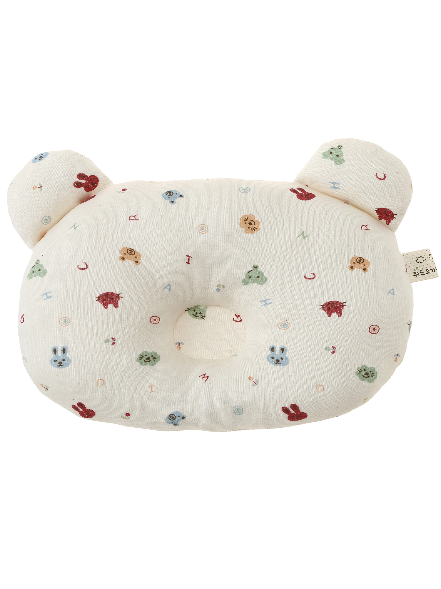 Infant Toddler Head Shaping Pillow for Sleeping PREMIUM 100% Organic Cotton by Withorganic