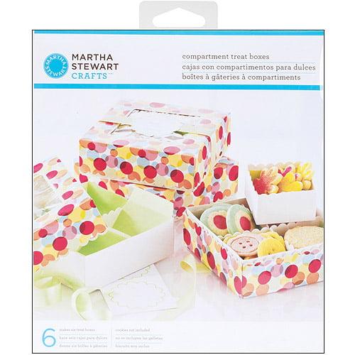 Martha Stewart Modern Festive Compartment Treat Favor Boxes, 6pk