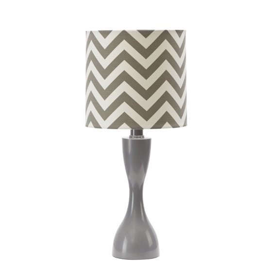Mainstays Gray Chevron Table Lamp with BULB Included - Walmart.com