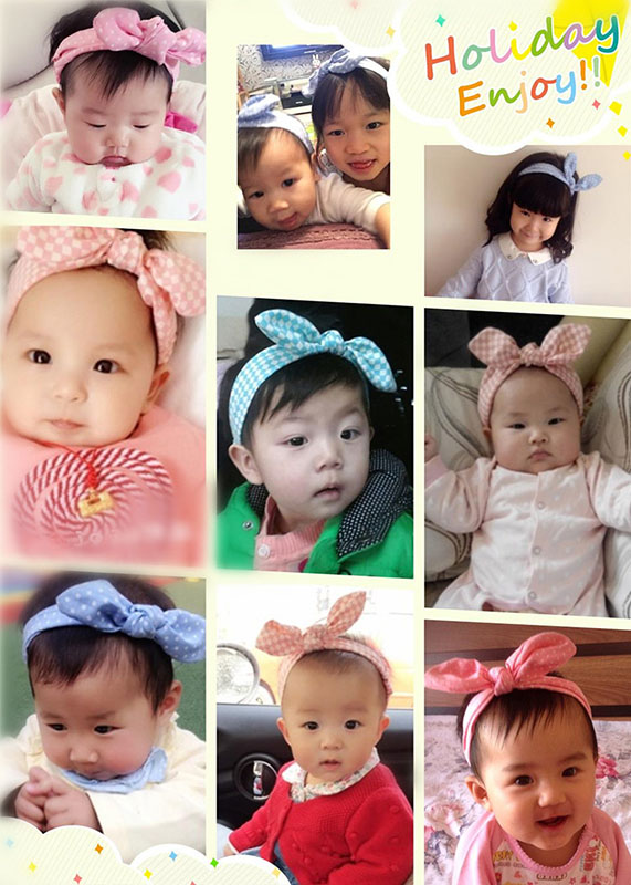 cff6aa85d501 Coxeer - (Free size 9Pcs)Bowknot Headbands for Baby Girls
