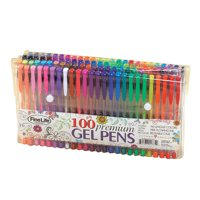 100 PIECE GEL PEN SET IN FOLDABLE POUCH
