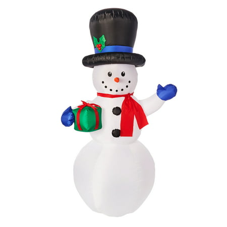 Holiday Time Yard Inflatables Snowman, 7 ft