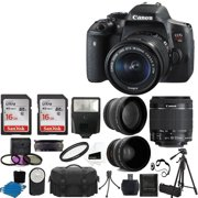 Battery canon camera canon eos rebel t6i dslr cmos digital slr camera with ef s 18 55mm fandeluxe Images