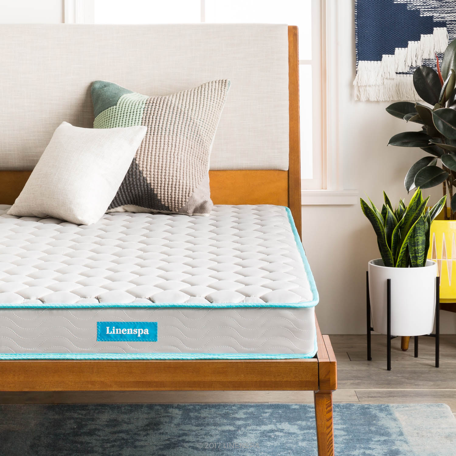 Linenspa 6 Inch Innerspring Mattress-in-a-Box, Multiple Sizes