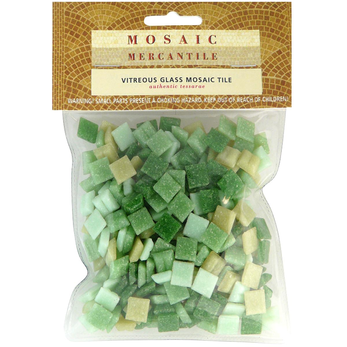 Vitreous Glass Mosaic Tiles .5lb-Landscape
