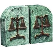 Verdigris Marble Legal Bookends