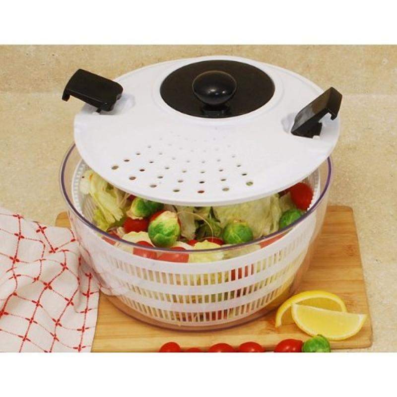 Cook Pro 605 4.50 Qt Salad Spinner with Interior Basket by