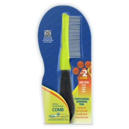 FURminator Small Finishing Comb for Curly, Long, Silky and Wiry Hair