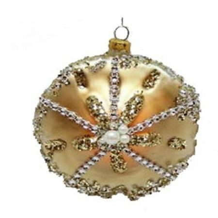 December Diamonds Beach Sand Dollar Glass Christmas Tree Ornament Decoration