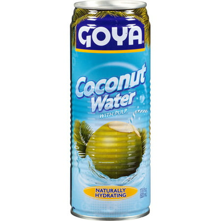 Goya Coconut Water with Pulp, 17.6 fl oz, (Pack of 24) ()