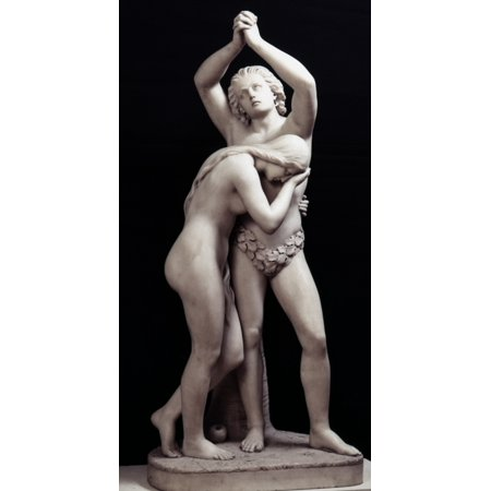 Crawford Adam & Eve Nadam And Eve Expelled From Paradise Marble 1855 By Thomas Crawford Rolled Canvas Art -  (24 x