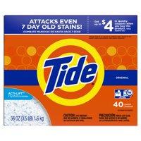 Tide Powder Laundry Detergent, Original, 40 loads, 56 oz