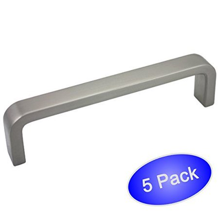 4 Pack Hardware (Cosmas 886-4SN Satin Nickel Cabinet Hardware Handle Pull - 4