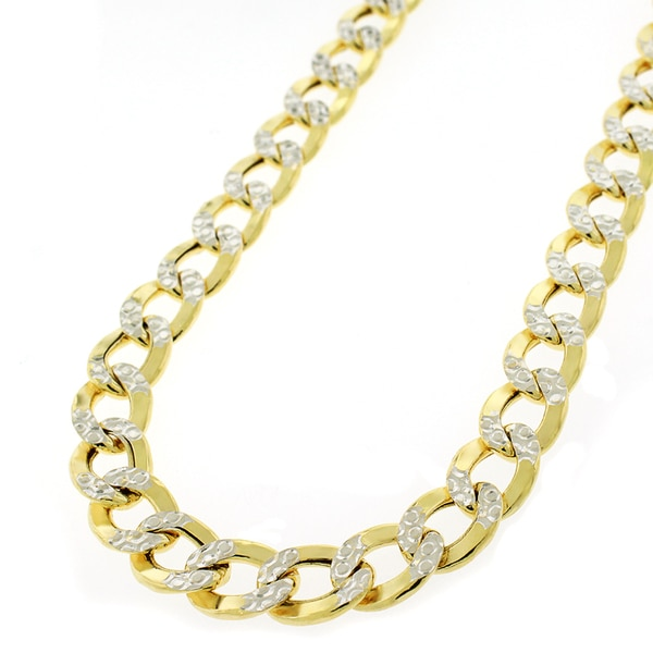 Saris and Things Yellow Stainless Steel Mens Womens Unisex 4mm 9 16-24 Inches Cuban Fashion Link Chain Necklace
