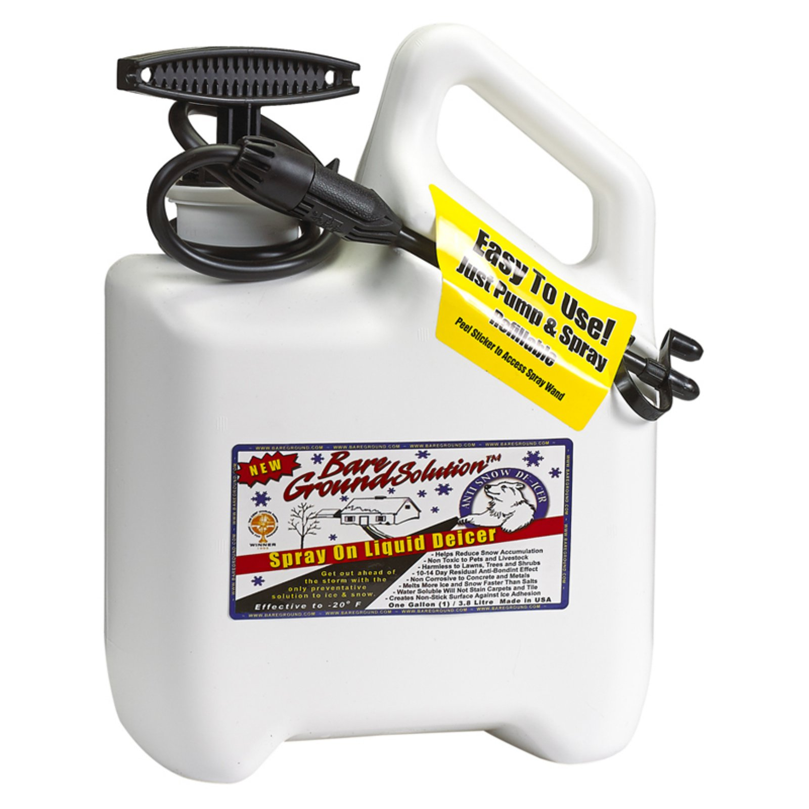 Bare Ground Deluxe System with Pump Sprayer and 1 gal Of Liquid Deicer