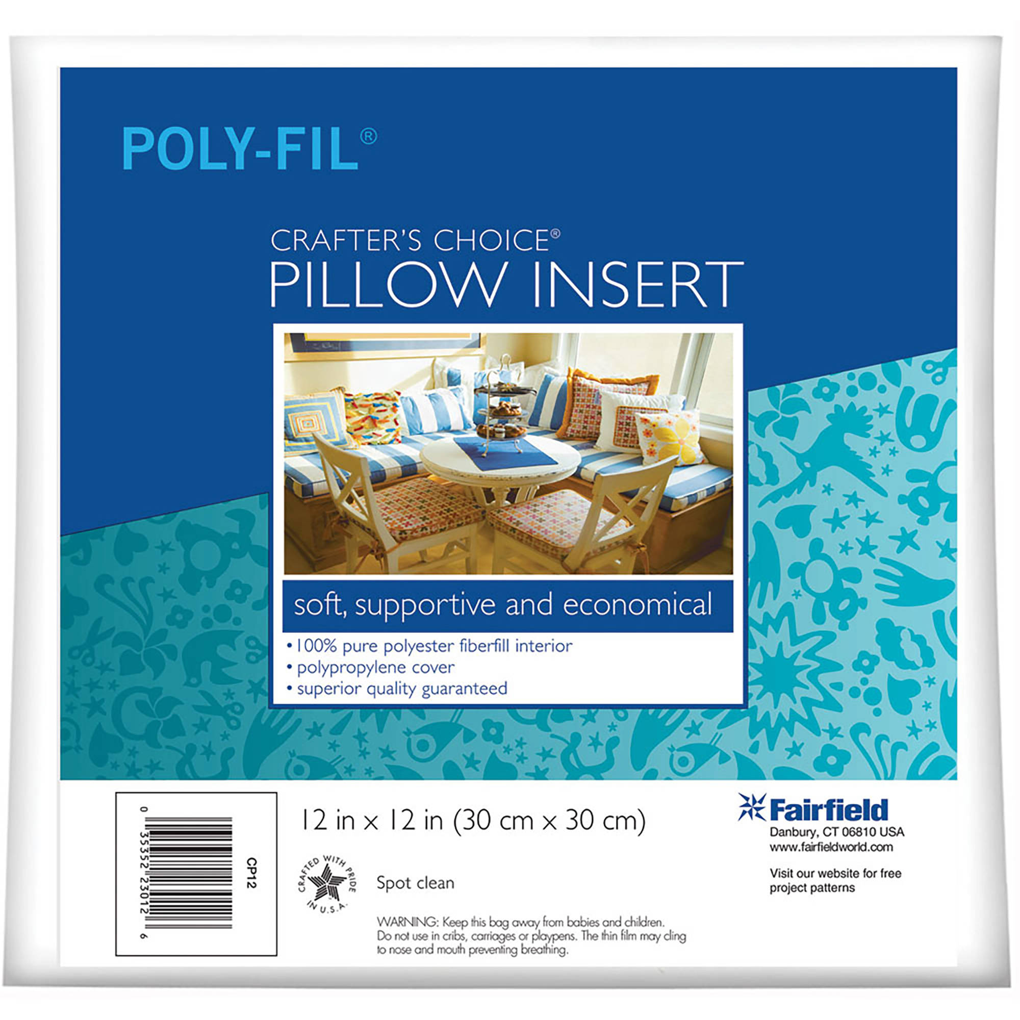 "Fairfield Crafter's Choice Pillow Insert 24"" x 24"""